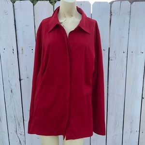 Lane Bryant 18/20 red blouse holidays work